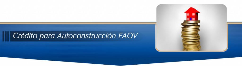 Credito para Autoconstruccion FAOV