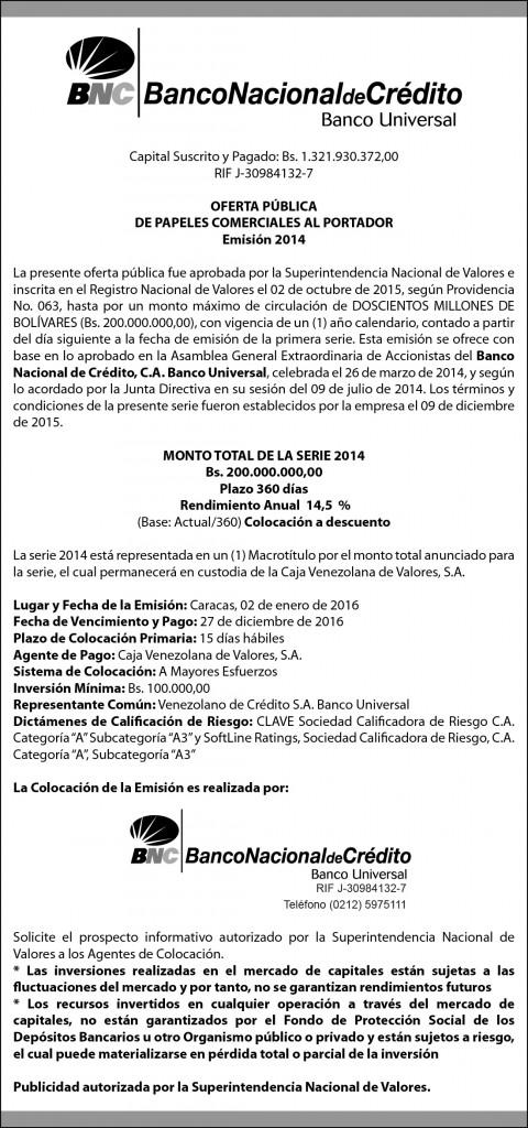 OFERTA PUBLICA DE PAPELES COMERCIALES AL PORTADOR El Nacional 9,32 x 19,88 cm-01
